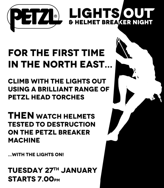 Petzl Lights Out Newcastle Poster